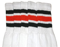 Black & Orange striped tube socks